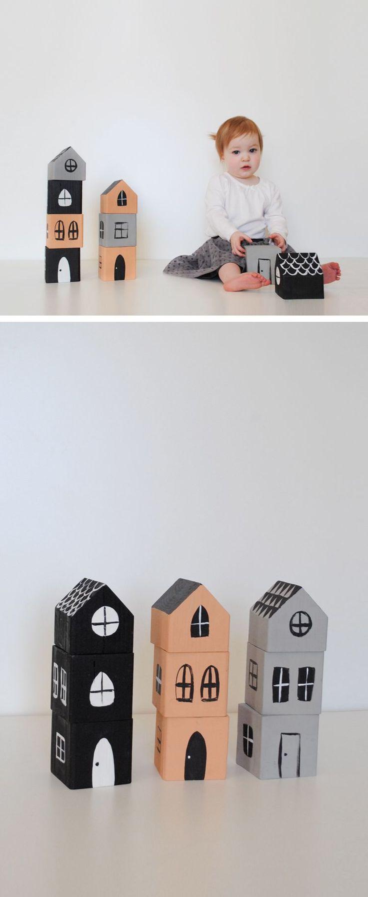 DIY Stacking House Blocks