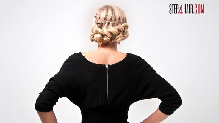 To propozycja bardzo eleganckiej fryzury dla każdej z nas!