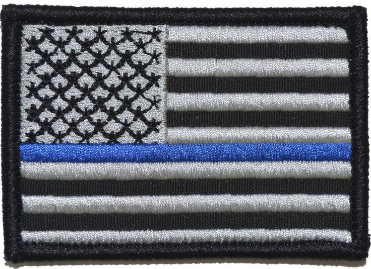 Thin Blue Line American Flag - 2x3 Hat Patch MIlitary Morale Police w/ Fastener #TacticalGearJunkie #Military