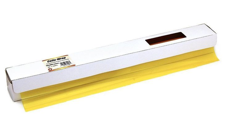 Hygloss 71008 Cello Gift Wrap Roll in Cutter Box, 20-Inch by 100-Feet, Yellow