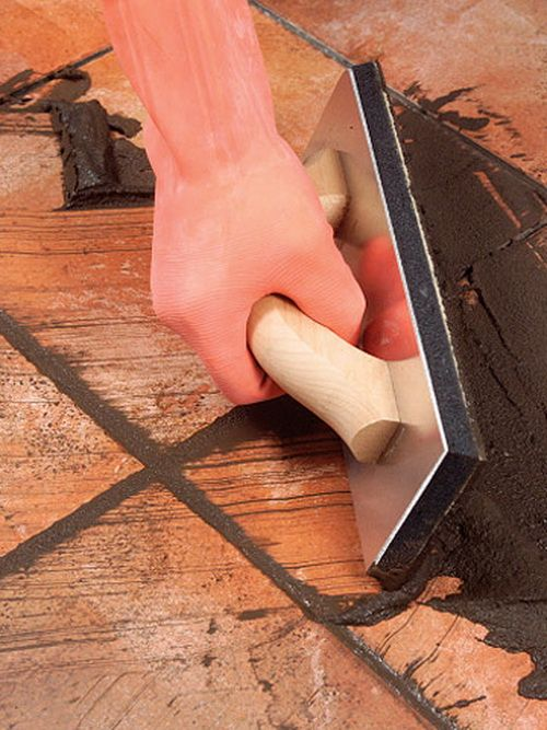 Great site for DIY... Removing and replacing old grout.  First Remove the old grout….  If the grout is already coming out and is fairly loose – Use a grout removal tool found at all home improvement stores. Scrape along the damaged grout line and dig the old grout out of the grout joints.