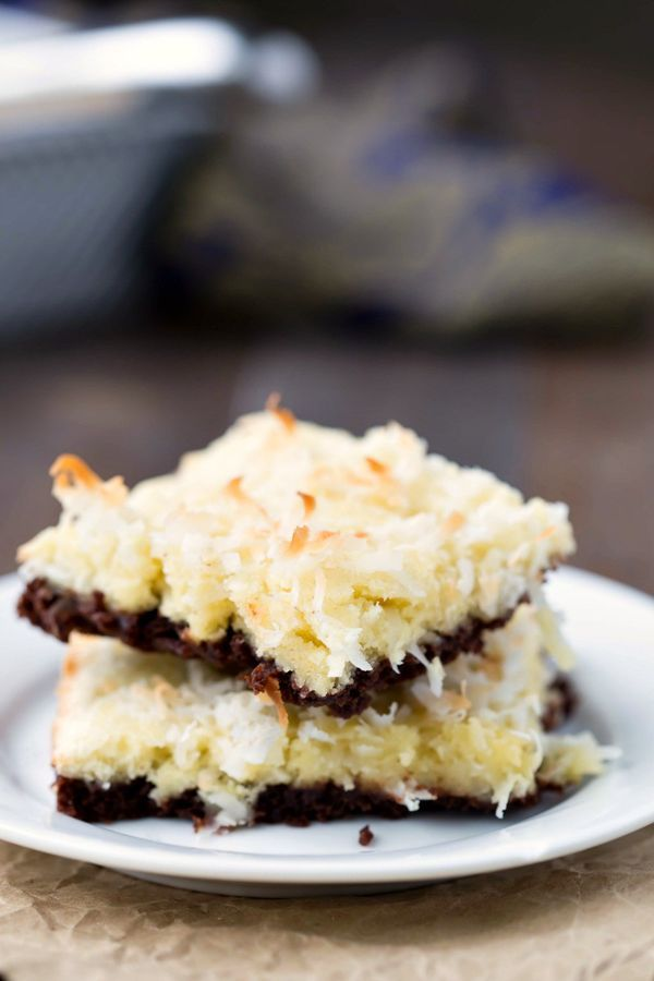 These Coconut Macaroon Brownie Bars make a decadent dessert that you can treat yourself to once in a while!