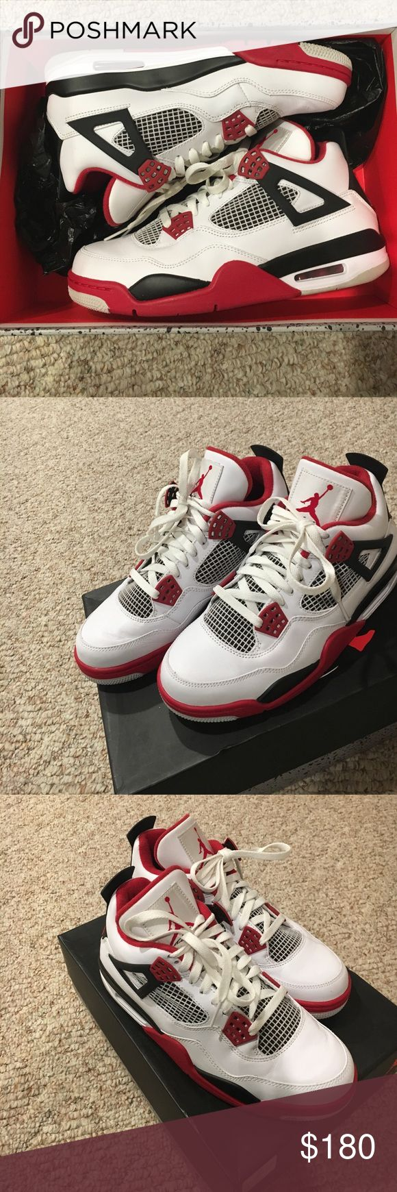 Air Jordan Retro 4s Air Jordan Retro 4's in great condition. Men's size 8.5 PRICE FIRM Jordan Shoes Sneakers