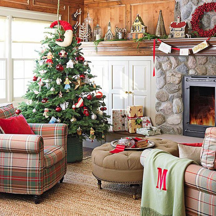 Best Christmas Living Room Decor Images On Pinterest - Charm of vintage christmas – 25 fascinating ideas
