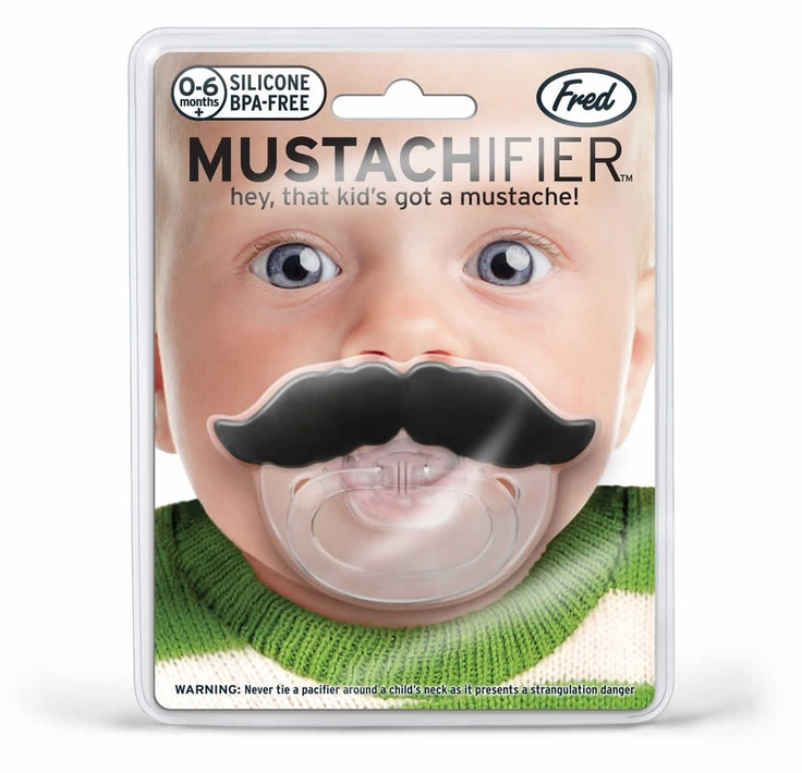Pacifier like a sir! Mustachifier from Fred & Friends for $10.99