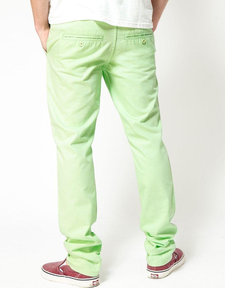Cheap Monday Slim Chinos - Green