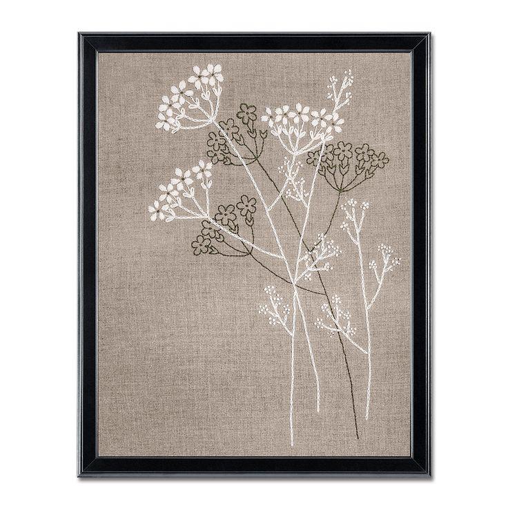 """Stickbilder im Leinenlook """"Blütenzauber"""""""