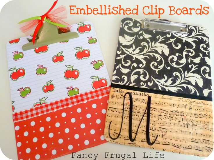 These DIY decorated clipboards are adorable!  Endless possibilities - great gifts!: Teacher Gifts, Teacher Appreciation, Crafts Ideas, Gifts Ideas, Boards Teacher, Appreciation Gifts, Decor Clipboards, Embellishments Clipboards, Clip Boards