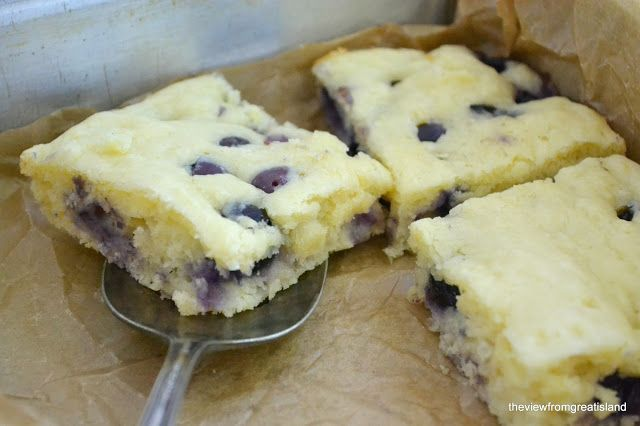 Buttermilk Blueberry Pancake Squares - The View from Great Island  So good!!!  I added raspberries too. Mmmm...