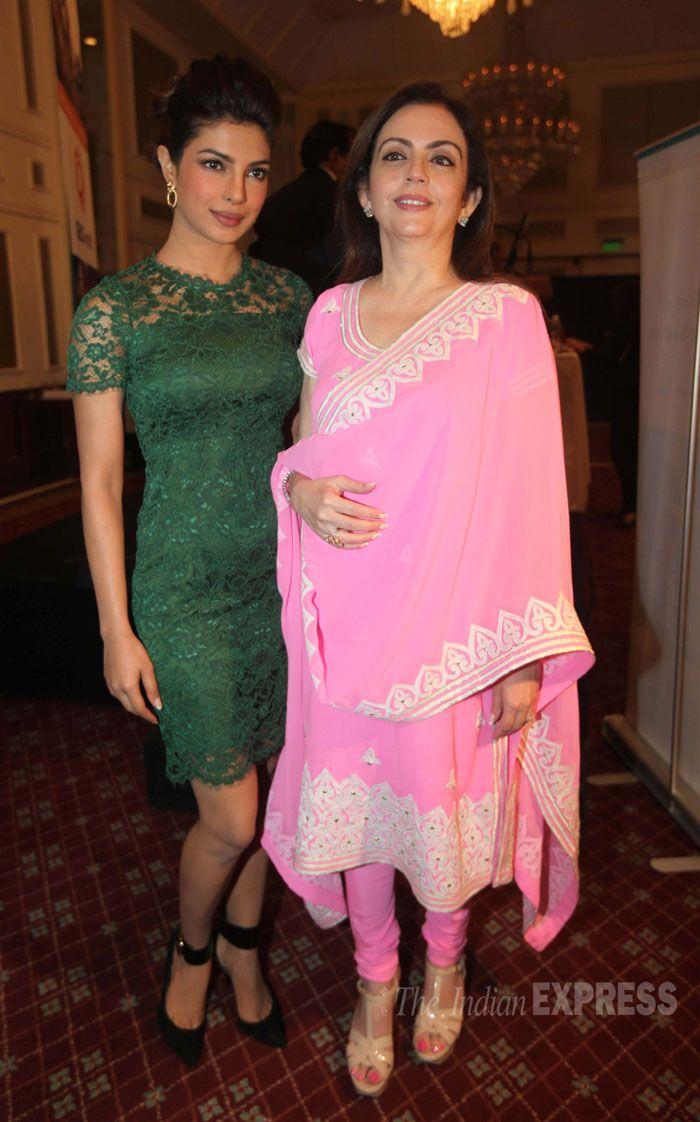 Nita Ambani Looking Elegant In A Pink Churridar Suit -3344