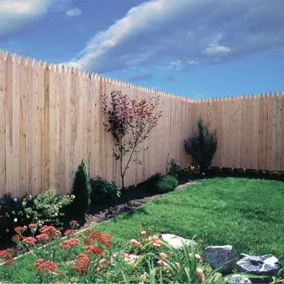 Barrette 6 ft. x 8 ft. Spruce Pine Fir Flat Top Stockade Fence Panel-73000470 - The Home Depot $29.97 ea