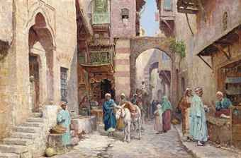 ARTHUR TREVOR HADDON, R.B.A. (1864-1941) - A street in Damascus