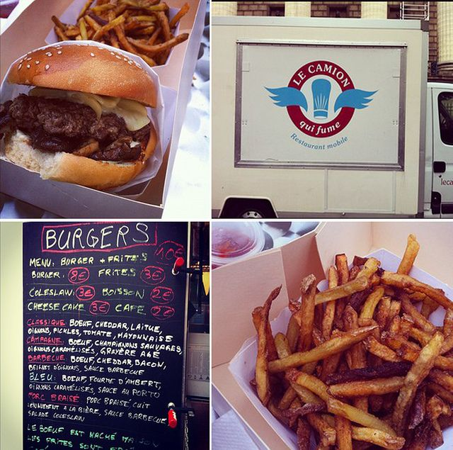 Le Camion Qui Fume, American-style food truck & best burgers in Paris. Yum!
