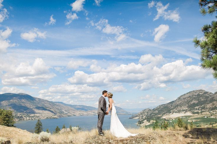 Blue Sky Wedding Kiss, Lake Valley Wedding, Grass Field Wedding Kiss