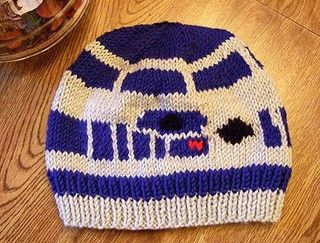 R2D2 Beanie - knitted