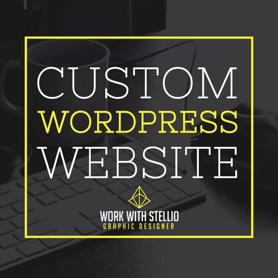 Custom Wordpress Website blogger theme by workwithstellio on Etsy