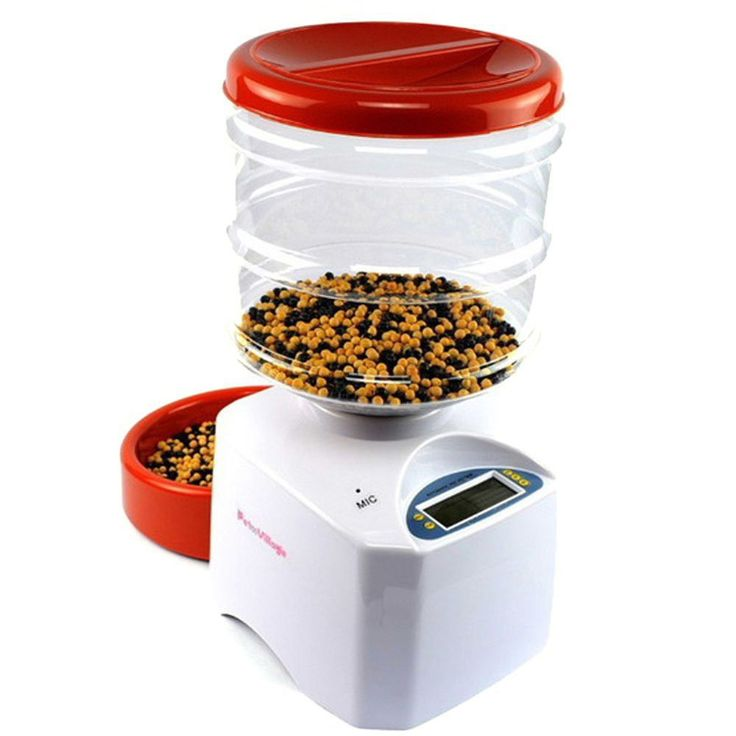 Portion Control Programmable Automatic Cat Dog Pet Feeder