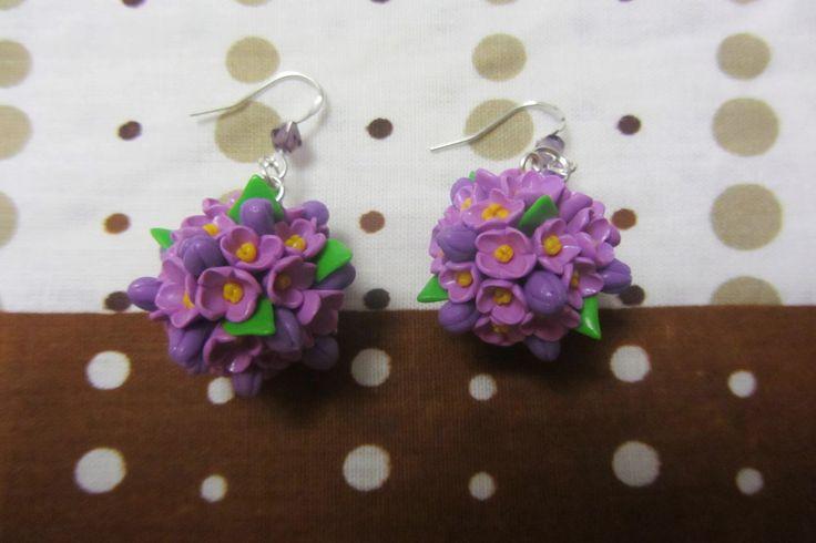 flower balls earrings/серьги цветочные шары