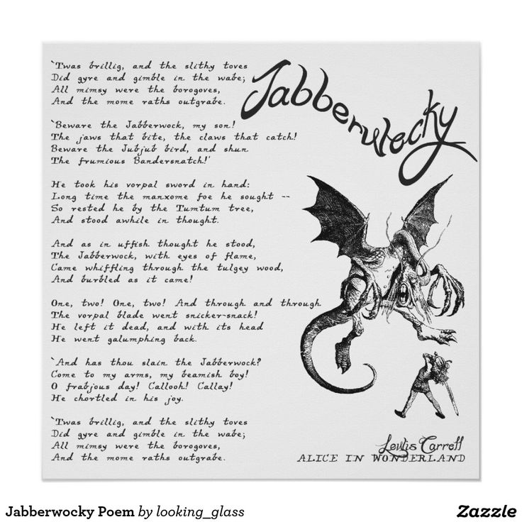 an analysis of the poem jabberwocky by lewis caroll A summary and analysis of lewis carroll's classic nonsense poem 'jabberwocky' 'jabberwocky' is perhaps the most famous nonsense poem.