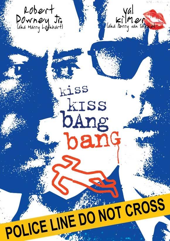 """Downey and Kilmer in """"Kiss Kiss, Bang Bang"""""""