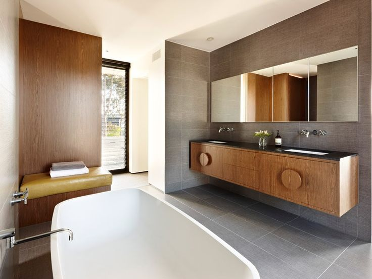 Gorgeous 60's inspired bathroom with a modern edge featured in episode 1 of Grand Designs Australia series 2