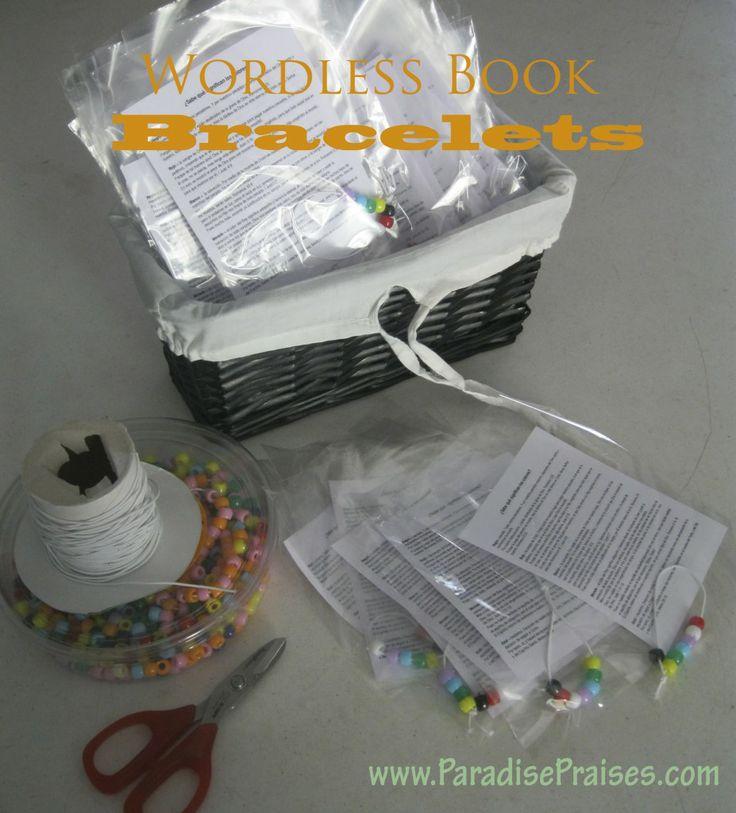 Kids ministry wordless book bracelet & free printable www.paradisepraises.com