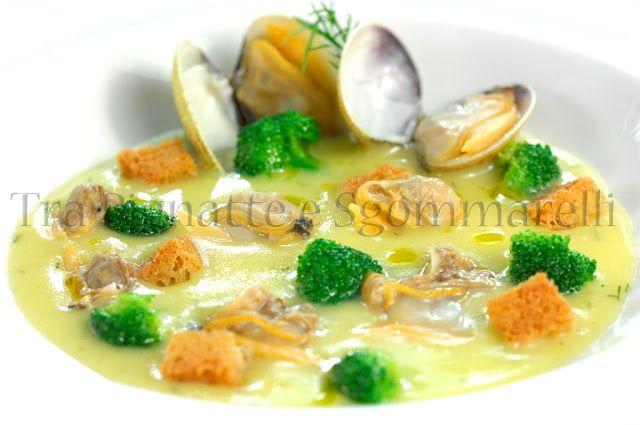 Le mie ricette - Crema di patate all'aneto, con vongole, broccoletti siciliani e crostini di pane all'aglio | Tra pignatte e sgommarelli