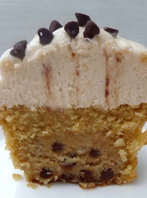 Cookie Dough Cupcakes with Cookie Dough Buttercream frosting