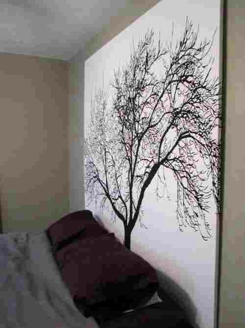Bed backboard painting house deco pinterest bed for Bed backboard designs