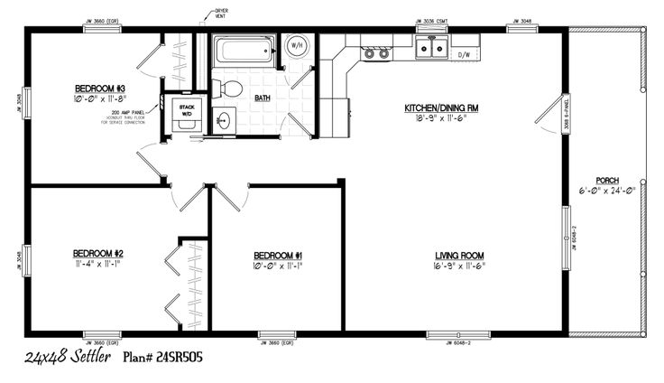 24 X 48 Homes Floor Plans Google Search Small House