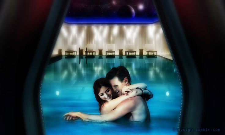 fun in the tardis pool ladysigh whouffle will live forever pinterest tardis and jenna coleman