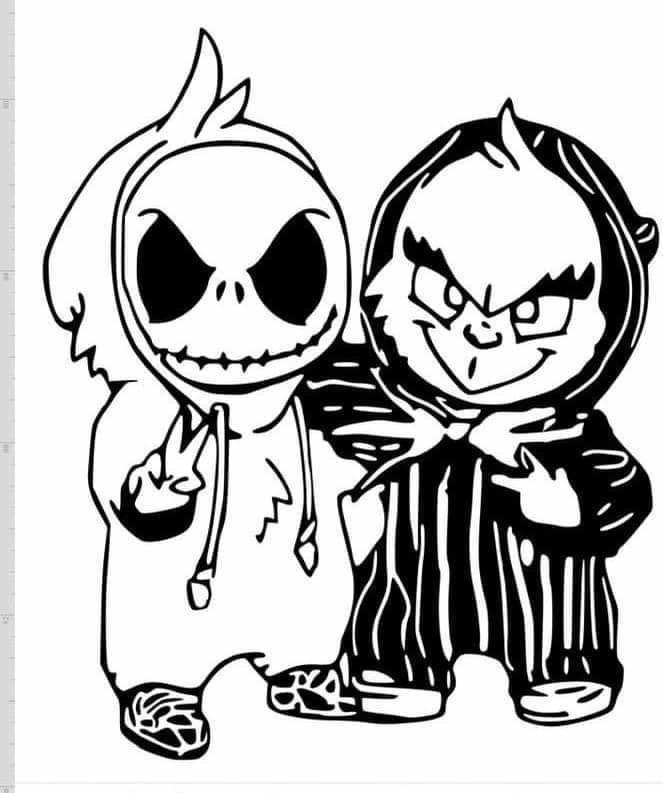 Baby Jack Skeleton Grinch Nightmare Before Christmas Tattoo Nightmare Before Christmas Drawings Jack Skellington Drawing