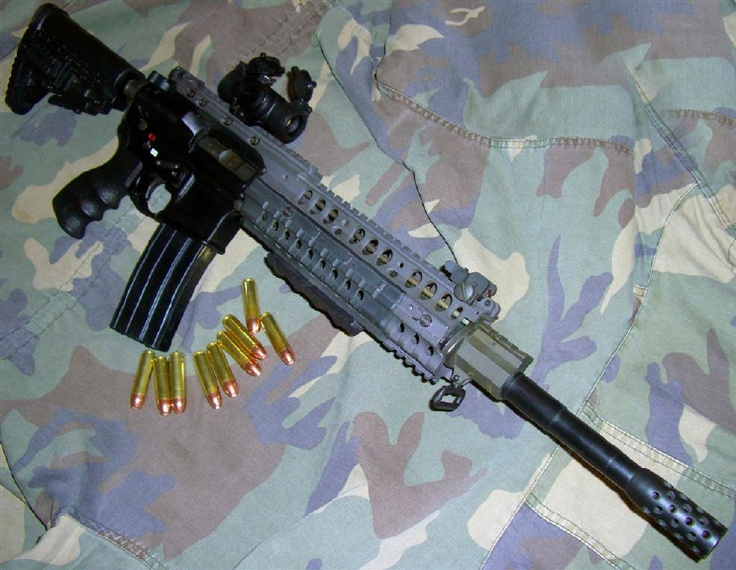 My .50 Beowulf rifle (semi, AR style chambered in .50 Beowulf)