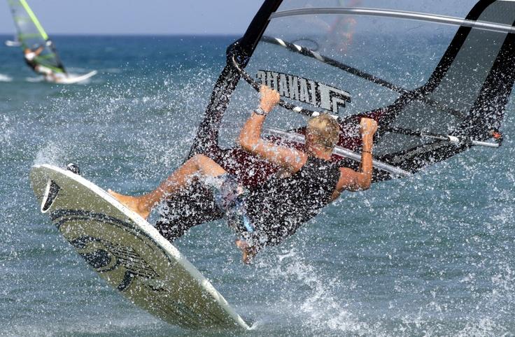 windsurfing in Prasonisi/Rhodos