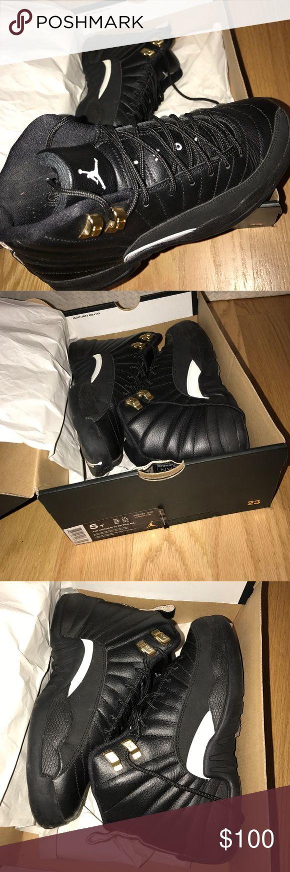 Air Jordan 12 Retro BG Size 5y All black air Jordan 12s size 5y (gradeschool) Air Jordan Shoes Sneakers