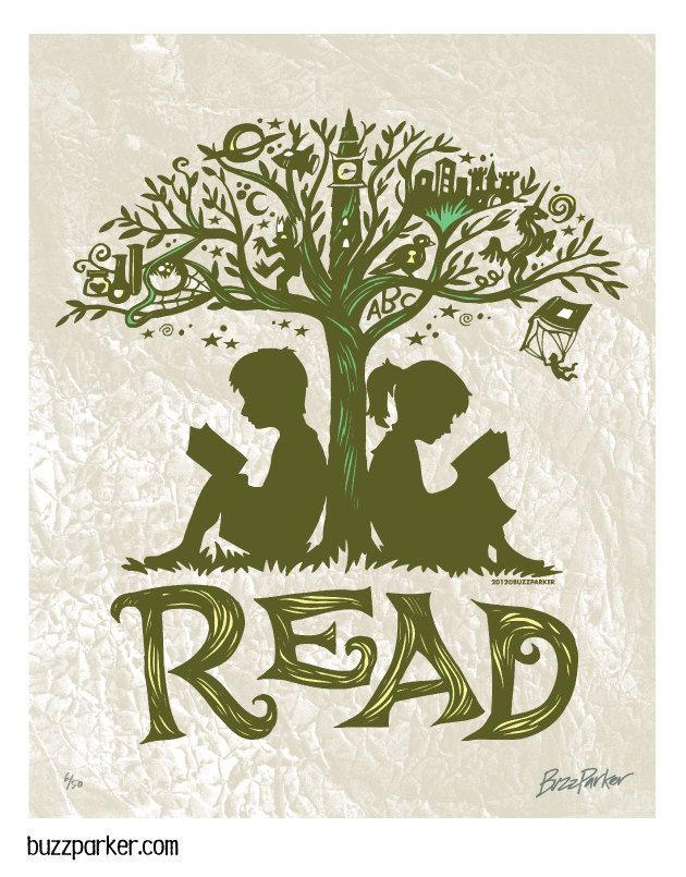 Reading Tree - 8x10 Art Print, Every Book An Adventure. $ 15.00, via Etsy.