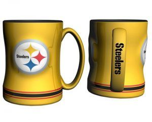 The Pittsburgh Steelers Coffee Mug Is A Delightful Addition To The Football Game Where You Can Enjoy Your Beverage While Watching The Steelers Play Live.  #nfl #pittsburghsteelers #pittsburghsteelerscoffeemug #footballcoffeemugs
