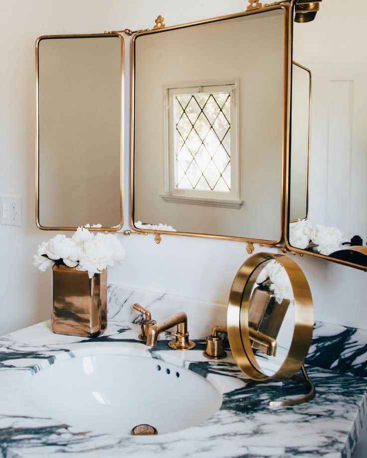 364 best images about bath on pinterest bath tubs for Bathroom 3 way mirror