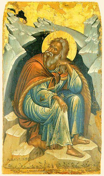 Prophet Elias. 2nd half of the 16th c. Michael Damaskenos. Stavronikita monastery, Mt Athos, Greece.