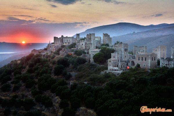 Stone village of Vathia, Mani Peloponnese