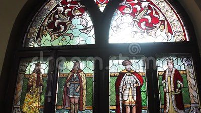 Stained glass window with romanian princes.