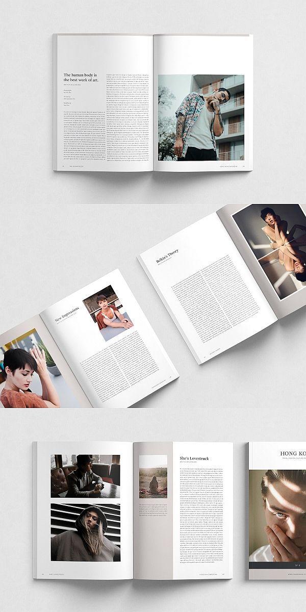 Hong Kong Magazine Template (über 100 Seiten) #magazine #brochure #template #br…