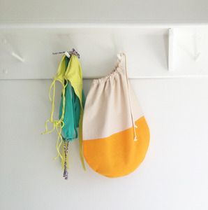 Orange Creamsicle Drawstring Packing Bag
