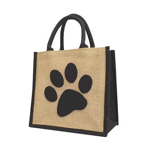 Jute / Hessian Medium Black Trim Shopping Bag - Giant Felt Dog Paw Motif Yellowboots http://www.amazon.co.uk/dp/B00UANV6H8/ref=cm_sw_r_pi_dp_LyuLwb1R3RVRE