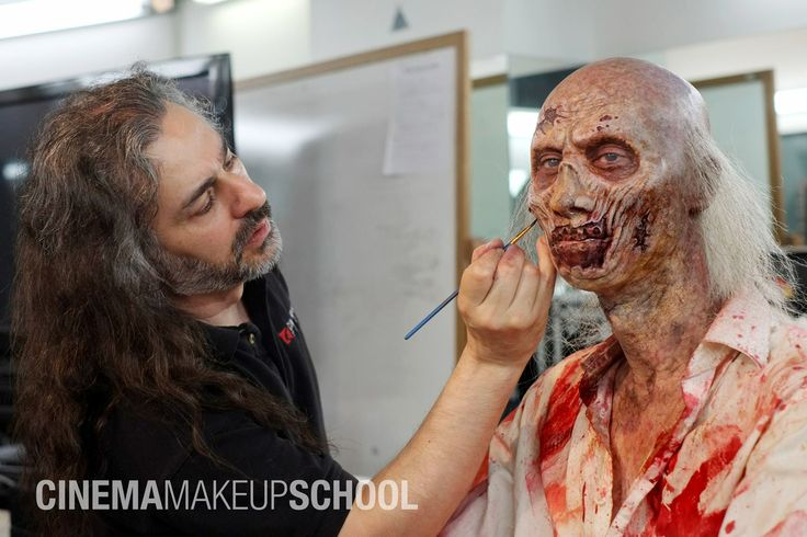 Makeup done by Michael Spatola during the Zombie Seminar held at CMS 11/14/13 MUA: Michael Spatola Model: Alexander Ward #cms #cinema #makeup #school #Special #FX #SPFX #movie