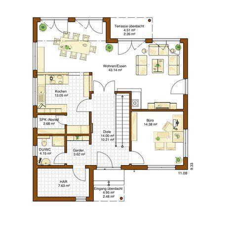Haus bauen grundriss  97 besten Grundrisse Haus Bilder auf Pinterest | Grundrisse ...