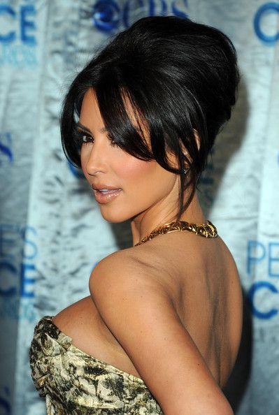 More Pics Of Kim Kardashian French Twist Kim Kardashian