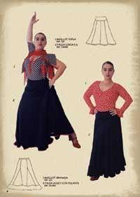 Pour tailler et confectionner ou customiser une jupe de flamenco