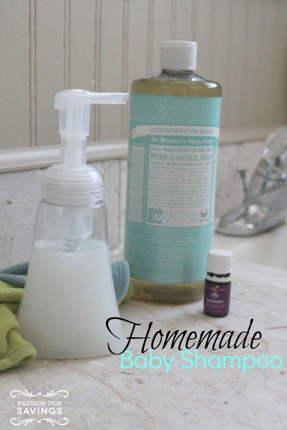 Homemade Baby Shampoo! DIY All Natural Baby Products so that you know exactly what you are putting on your kids!