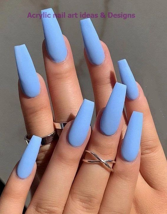 90 Long Acrylic Nails Design Ideas June 2020 In 2020 Blue Acrylic Nails Long Acrylic Nail Designs Simple Acrylic Nails